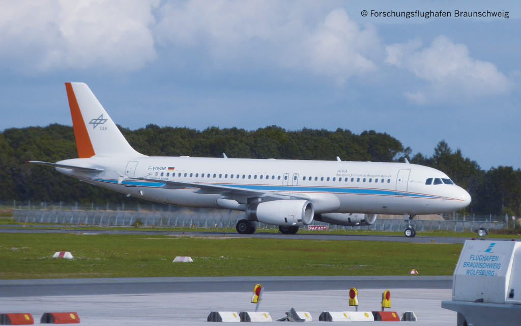 The ATRA research aeroplane,  an Airbus A320-232, has been used  by the German Aerospace Center  (DLR) since late 2008.