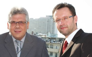Executive board of BKK Pfalz, Andreas Lenz (left)  and Hans-Walter Schneider.