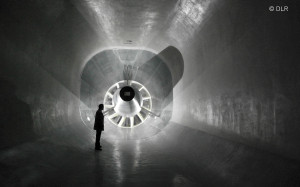 The low-speed-wind tunnel in Braunschweig. The blower has a diameter of 4.70 metres.