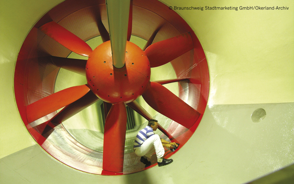 Application-orientated research is a big priority in Braunschweig:  DLR wind tunnel and JKI Federal Research Centre for Cultivated Plants.