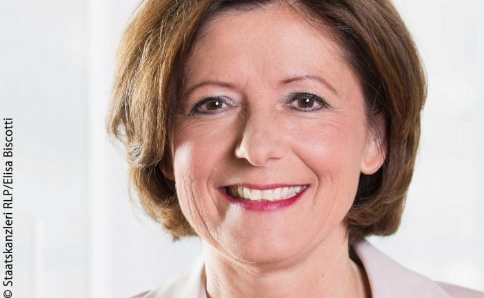 Malu Dreyer: Minister President of the State of Rhineland-Palatinate